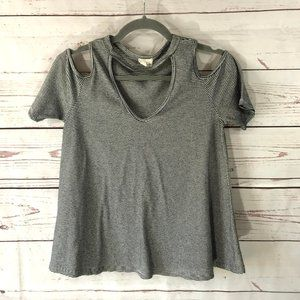 *3/$18*Caution to the Wind Cold Shoulder Blouse
